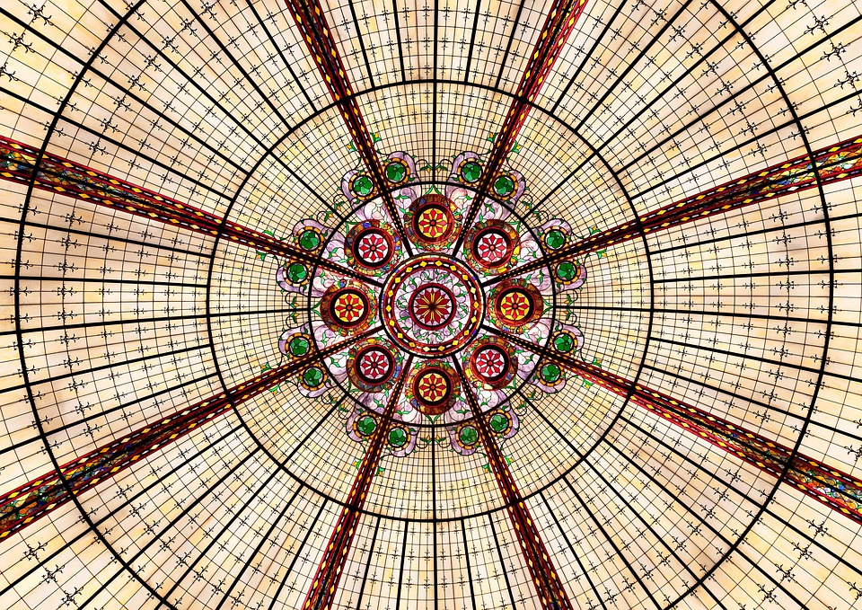 Pattern, Round, Abstract, Geometric, Architecture