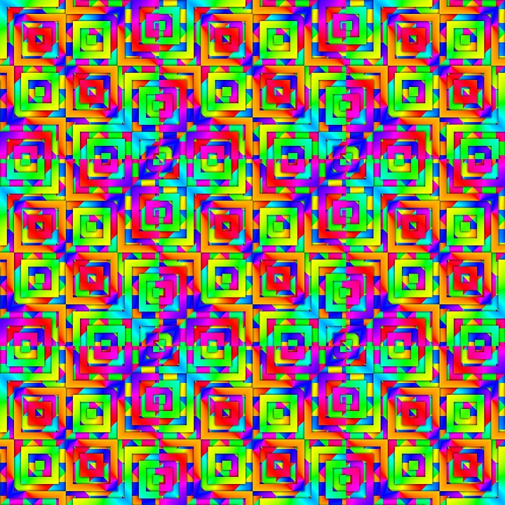 Colorful, Tile, Geometric, Abstract, Digital, Square