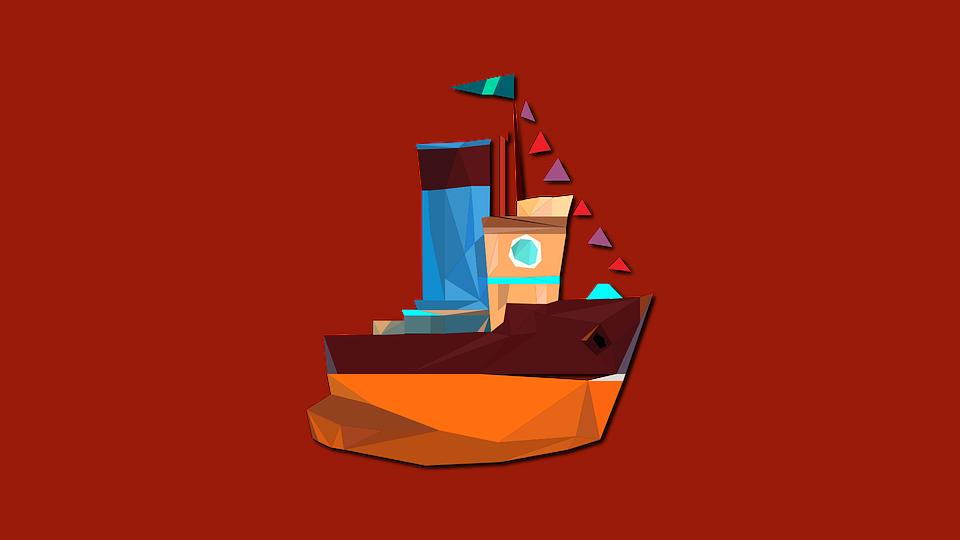 Boat, Ship, Swim, Triangle, Geometric