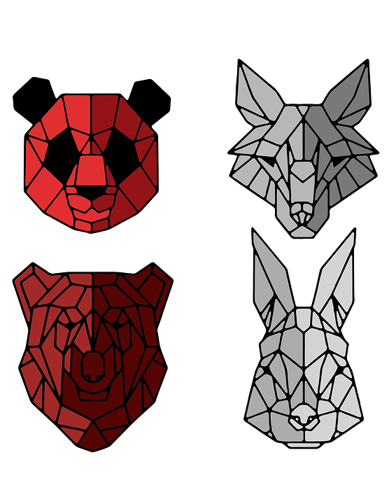 Animals, Geometry, Polygonal