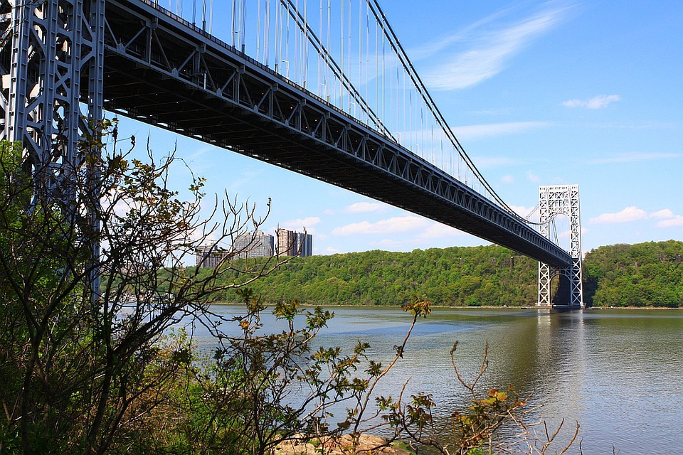 New, York, City, Bridge, George, Washington, River