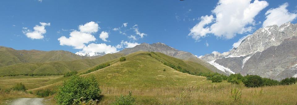Georgia, Pass Tan, Mountains, Sky, Nature, Landscape