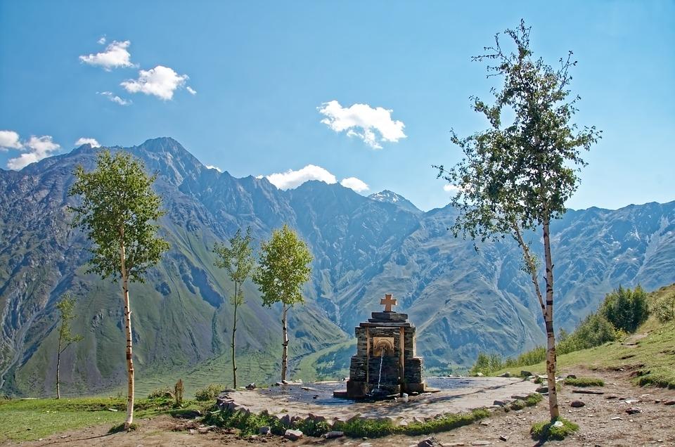 Georgia, Great Caucasus, Mountains, Source, Landscape