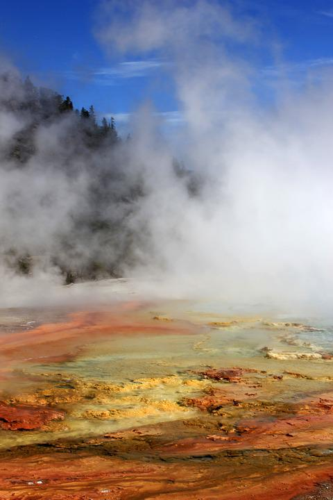 Yellowstone, Hot Springs, Nature, Geothermal, Geology