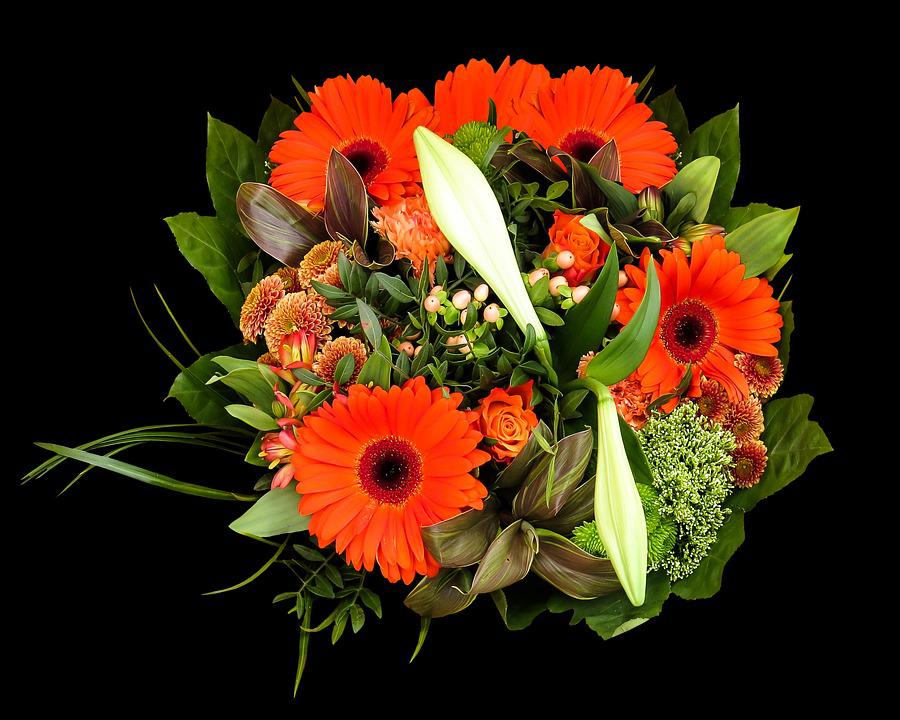 Birthday Bouquet, Bouquet, Flowers, Gerbera, Lily, Give