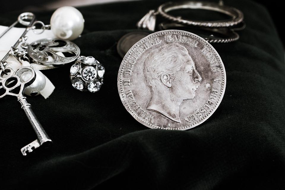 Silver Coin, Mark, German, Reichsmark, Five