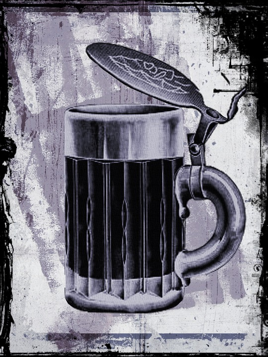 Beer, Mug, Retro, Vintage, German, Grunge, Pub