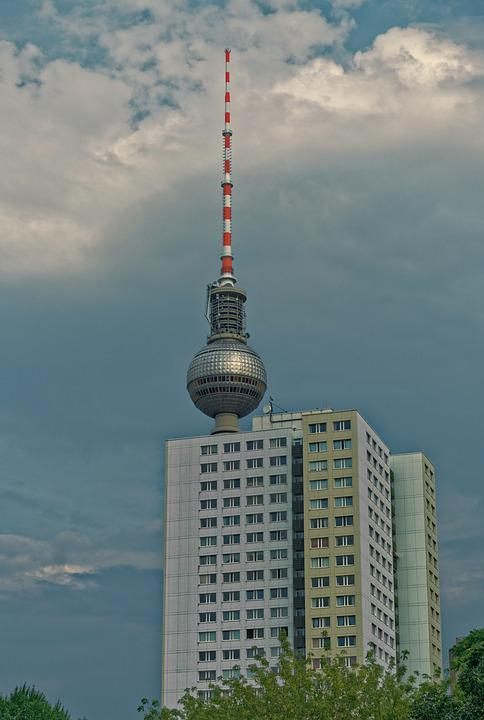 Germany, Berlin, Tv Tower, Hackescher Markt, Landmark