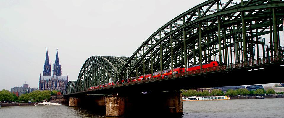 Dom, Cologne, Germany, Rhine, Water, Bridge, Reflection