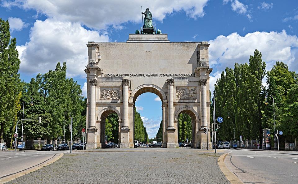 Munich, Siegestor, Bavarian Sky, Building, Germany