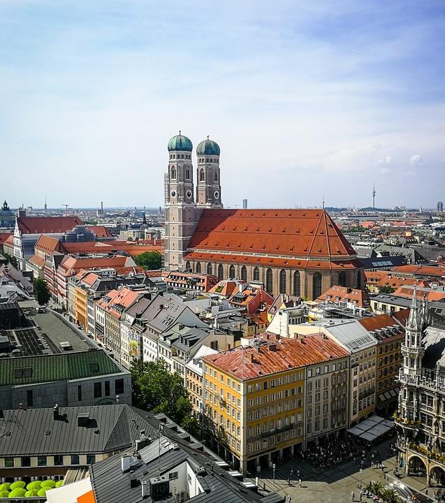 Munich, Bavaria, Germany, Building, City, Architecture