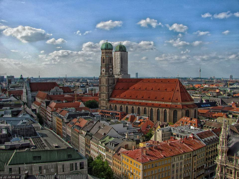 Munich, Germany, City, Cities, Urban, Skyline, Church