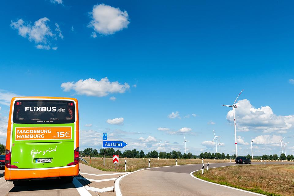 Flixbus, Highway, Germany, Traffic, Streets, Roadway