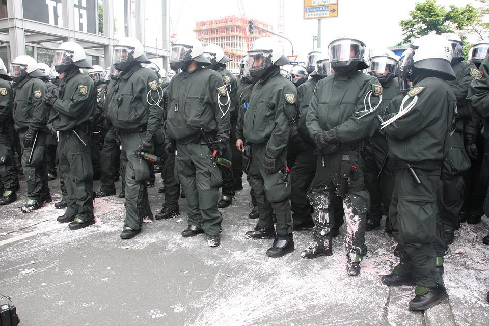 Police, Germany, Frankfurt