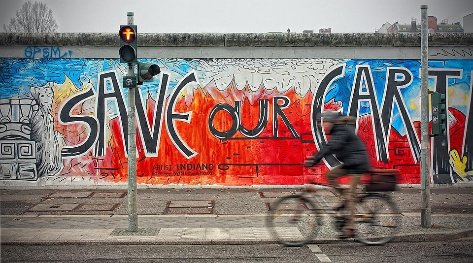 East Side Gallery, Berlin, Germany, City, Graffity