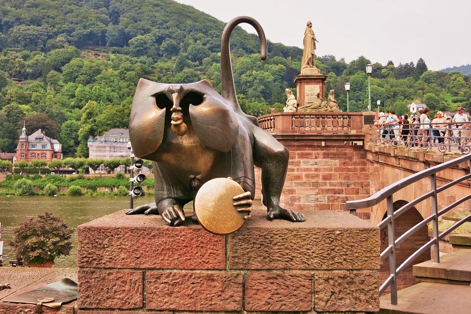 Germany, Heidelberg, Historic Center, Bridge