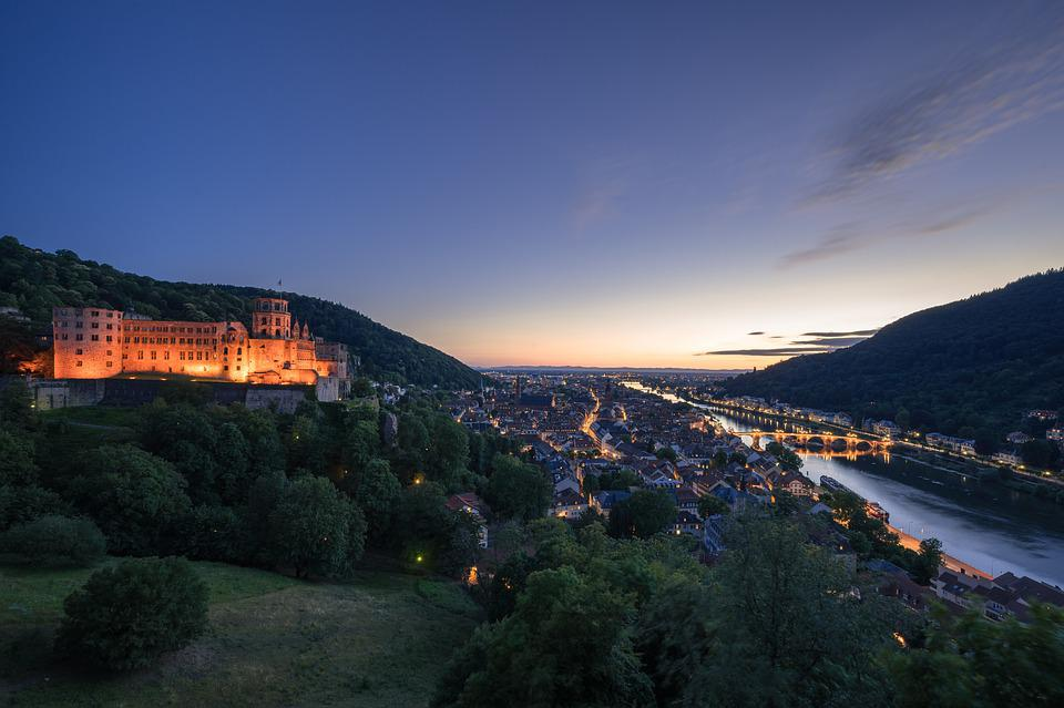 Heidelberg, Castle, Historically, Neckar, Germany
