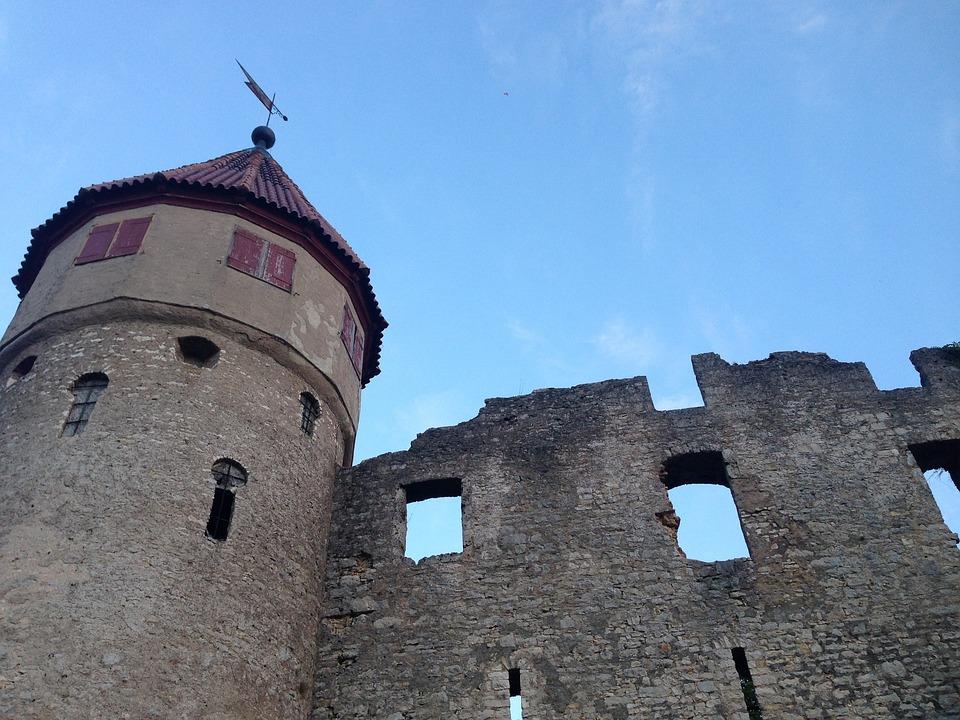 Castle, Honing Mountain, Tuttlingen, Ruin, Germany