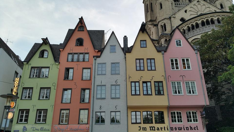 Cologne, City, Germany, Houses