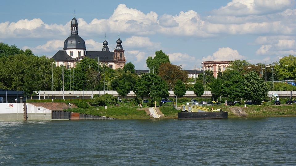 Germany, Churches, Mannheim, Rhine, Jesuit Church