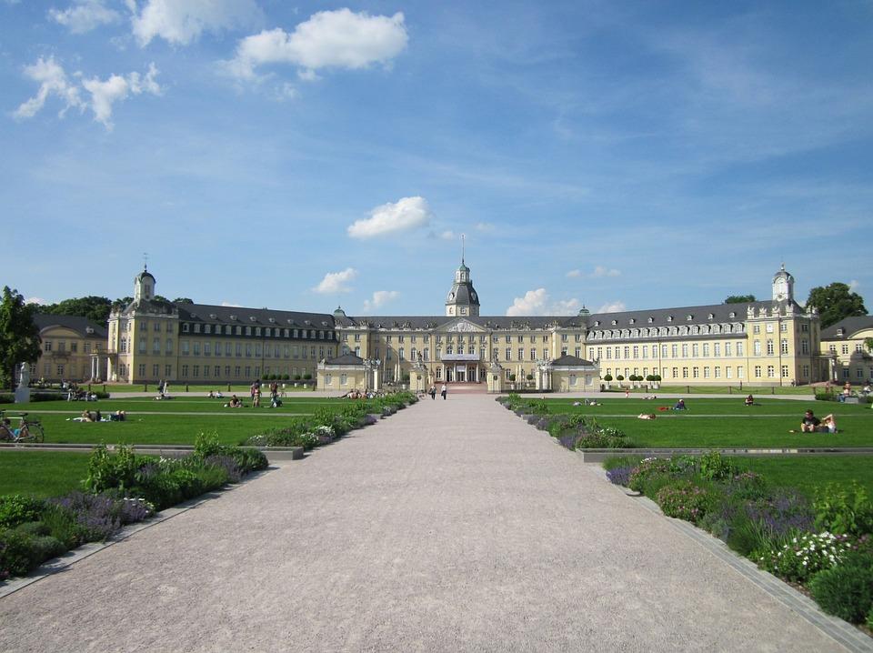 Karlsruhe, Castle, Palace, Germany, Architecture, Park
