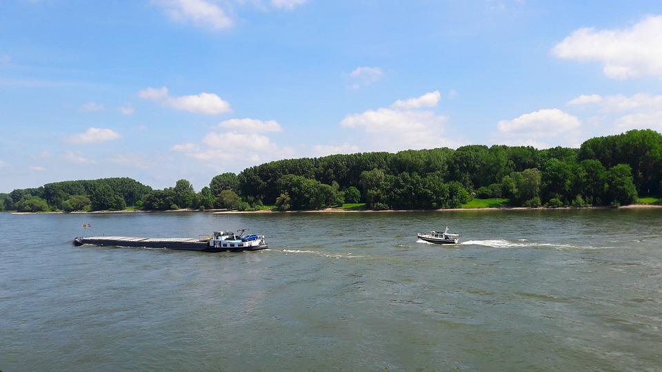 Ship, Rhine, River, Shipping, Germany, Water, Landscape