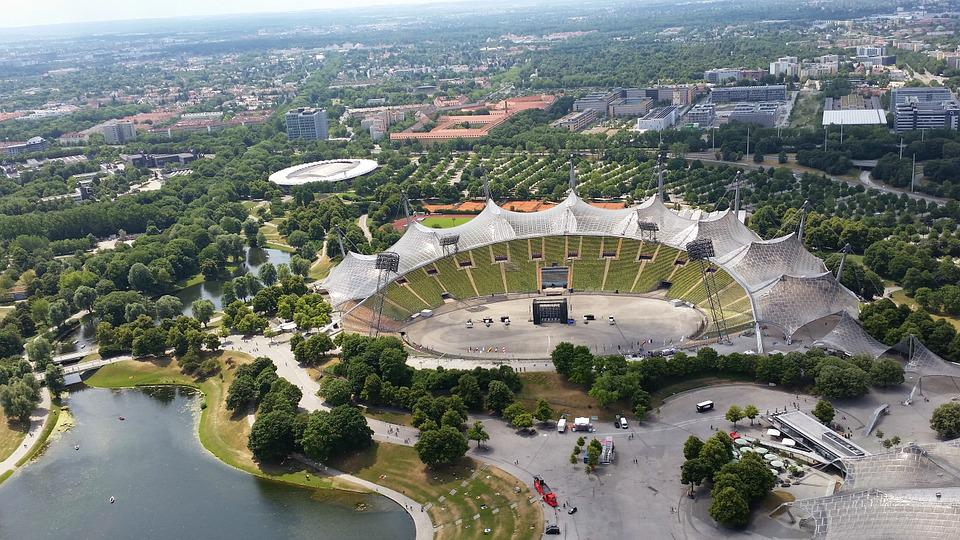 Olympic Stadium, Munich, Aerial View, Germany