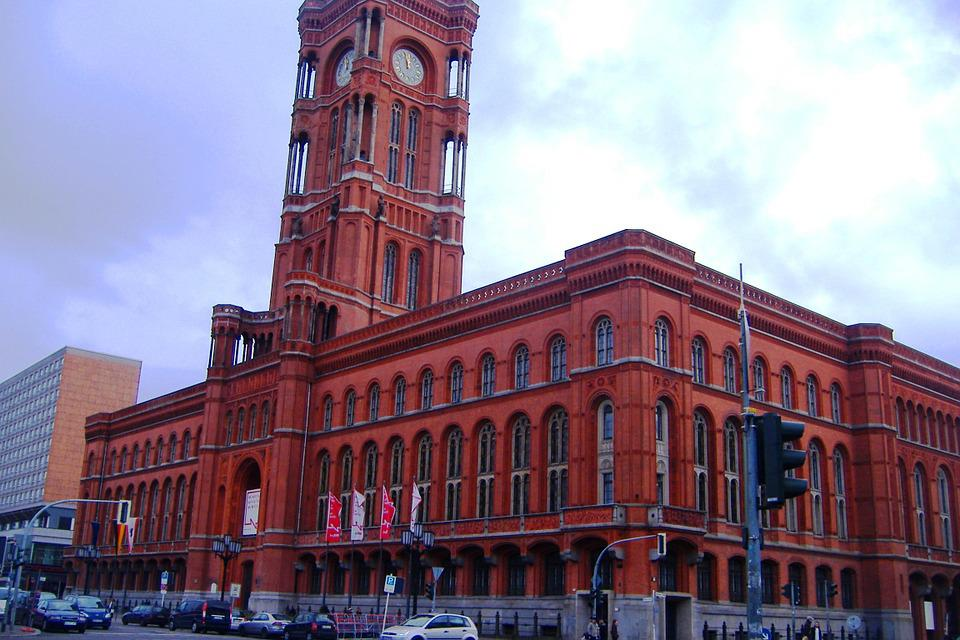 Berlin, Germany, Deutschland, Red Town Hall