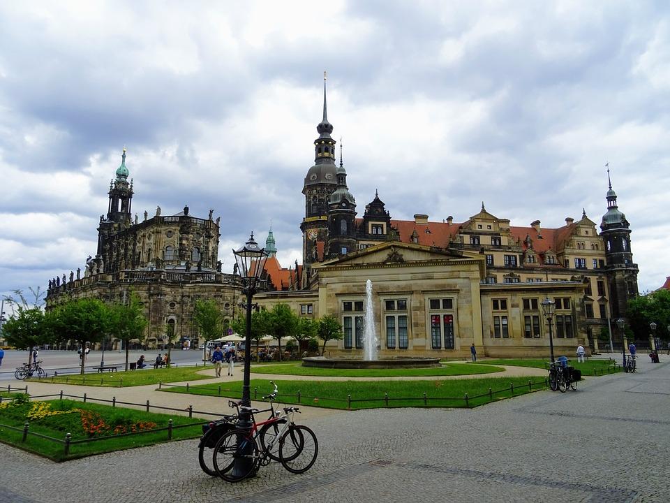 Dresden, Germany, Hofkirche, Zwinger, Striezelmarkt