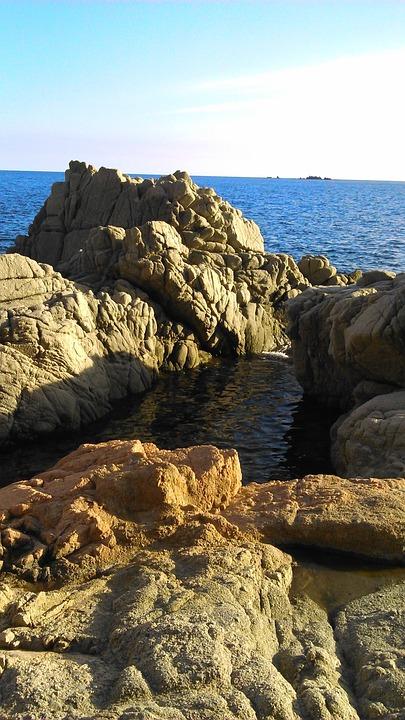 Calella De Palafrugell, Gerona, Rocks, Sea, Landscape