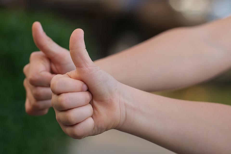 Thumbs Up, Positive, Gesture, Thumb, Happy