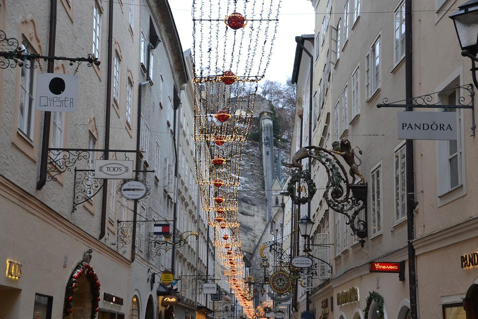 Salzburg, Getreidegasse, Nasal Signs, Alley, Austria