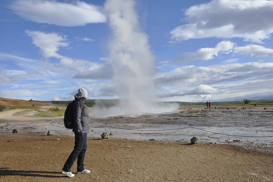 Geyser, Geothermal, Field, Water, Steam, Iceland