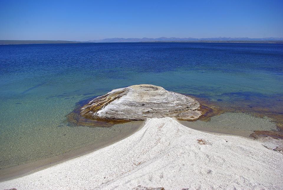 Fishing Cone On Lake, Thermal, Pool, Geyser