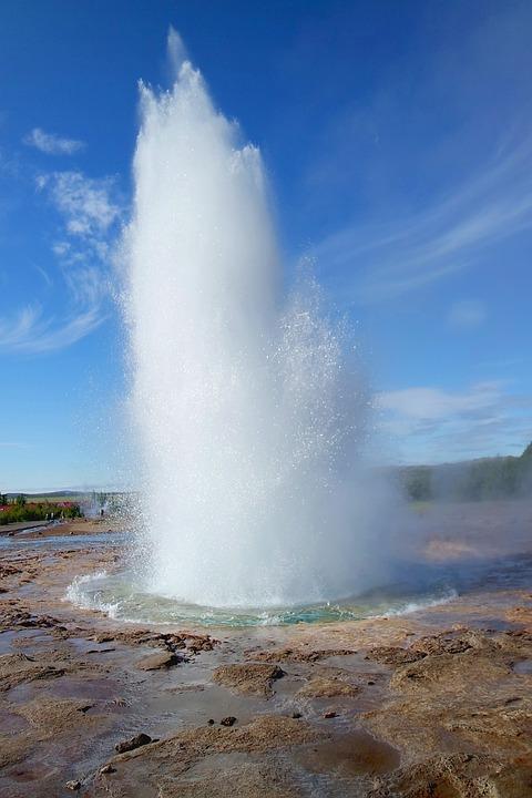 Geyser, Iceland, Strokkur, Geysir, Nature, Color