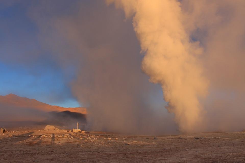 Hot Source, Steam, Volcanic, Geyser, Hot, Volcano