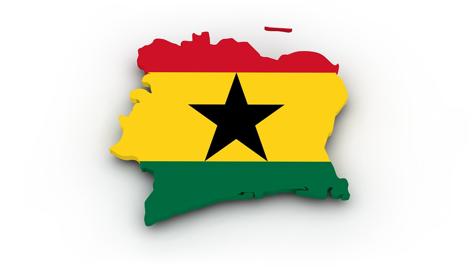 Map, Ghana, Flag, Borders, Country, States Of America