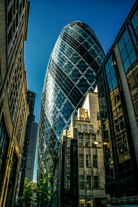 Gherkin, Building, City, London, Architecture