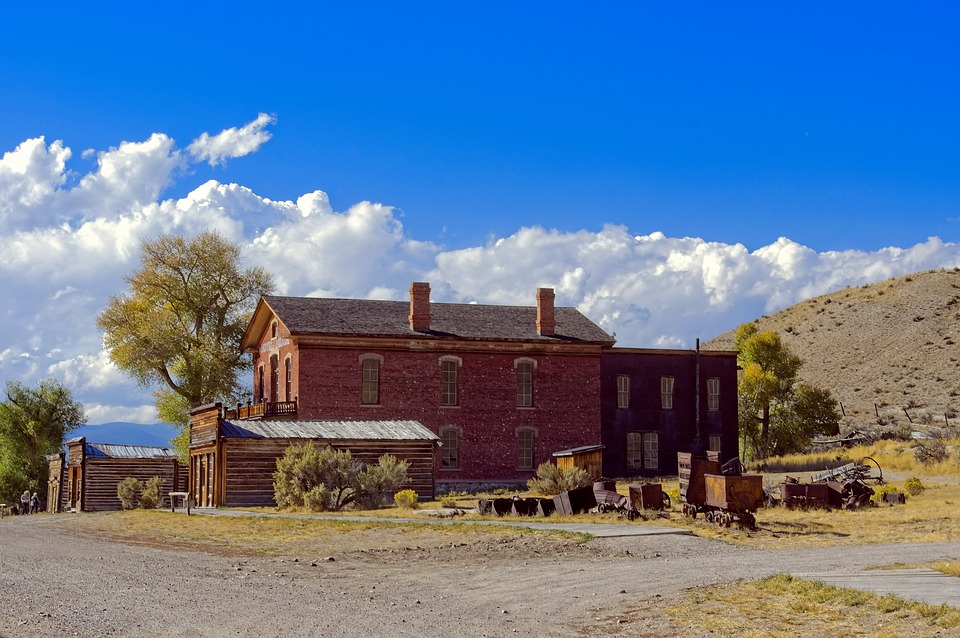 Bannack Hotel And Shops, Ghost, Town, Bannack, State