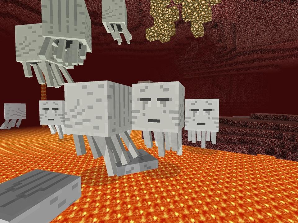 Minecraft, Game, Ghost, 3d Digital Art