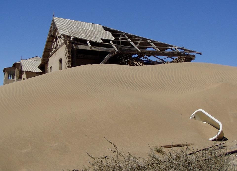 Kolmanskoppe, Namibia, Ghost Town, Africa, Desert