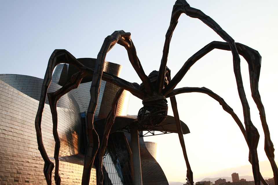 Bilbao, Guggenheim, Giant Spider, Sculpture, Shadow