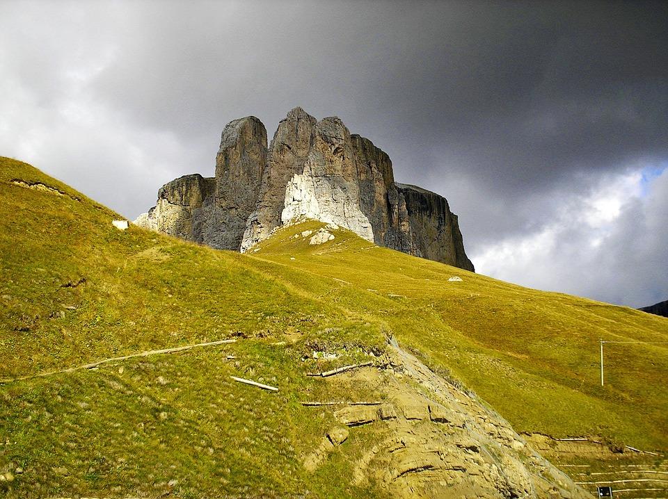 Mountains, Alpine, Giau Pass