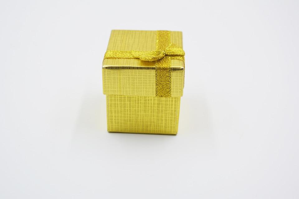 Gift Box, Gold, Gift, Present Turkey, Decor, Object