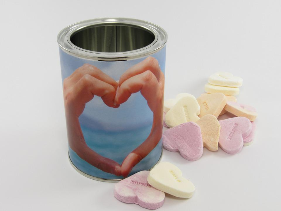 Heart, Hearts, Gift, Glance, Tin, Silver, White, Metal