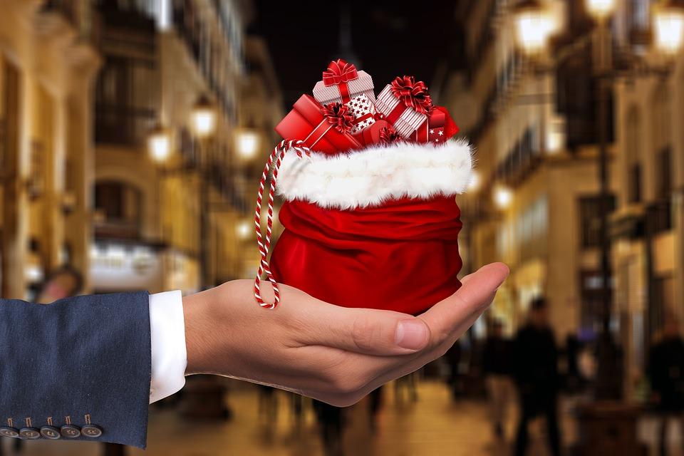 Christmas, Gift, Hand, Keep, Give, Dollar, Present