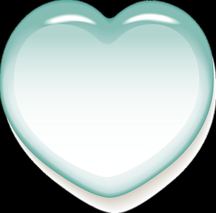 Heart, Love, Luck, Wedding, Romance, Gift, Turquoise