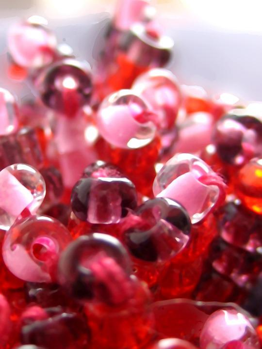 Beads, Red, Pin, Jewelry, Gifts, Holiday, Ornament