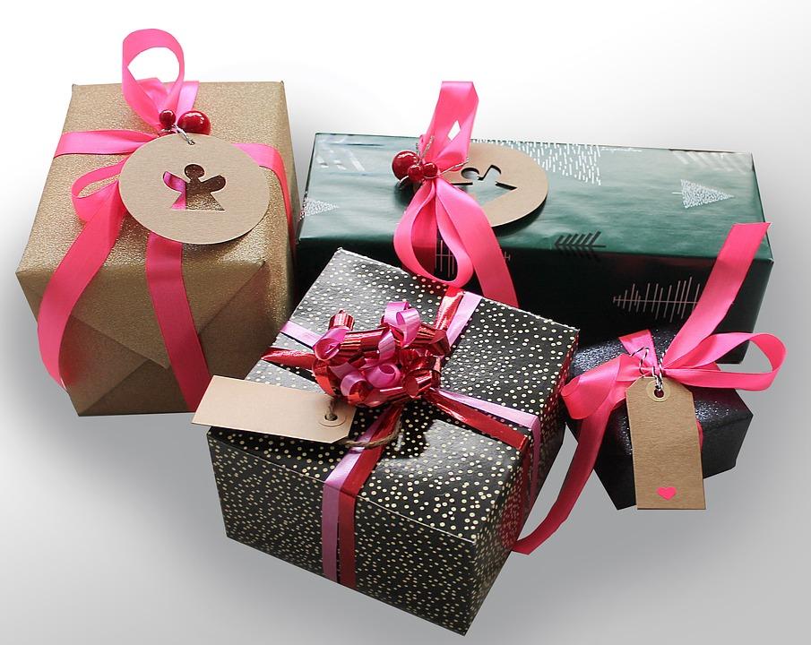 Gifts, Gift, Tape, Packages, Skøjfe, Surprises