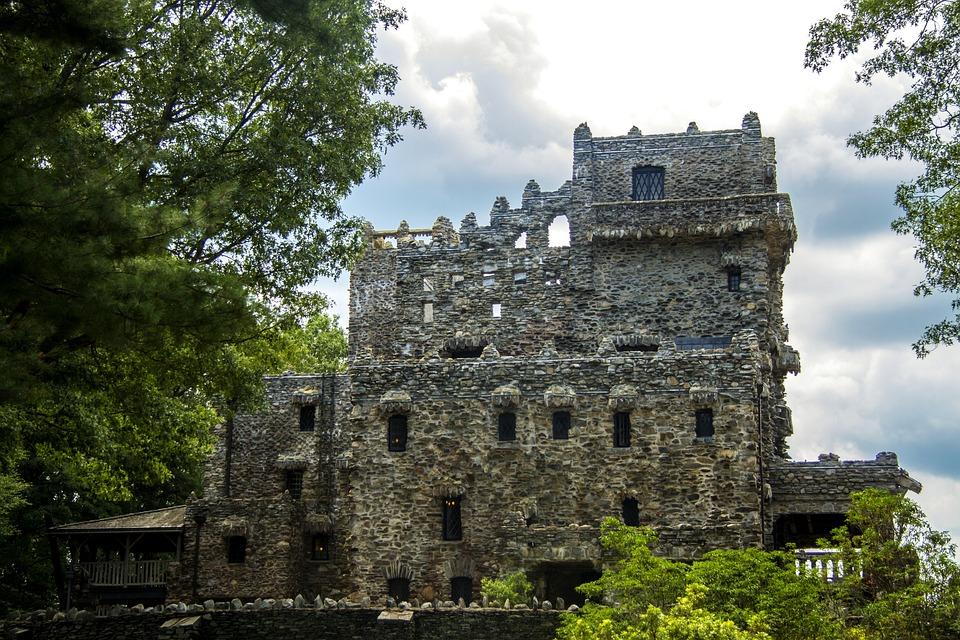 Castle, Gillette Castle, Connecticut, Woods, Outside